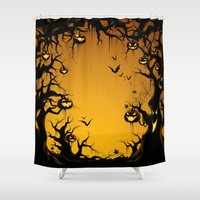 scary Shower Curtains featuring SCARY HALLOWEEN by Acus