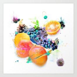 Cosmic Mango Art Print