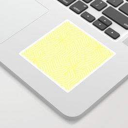 Laser lemon - yellow - Minimal Vector Seamless Pattern Sticker
