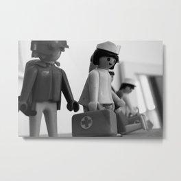 Lego nurse Metal Print
