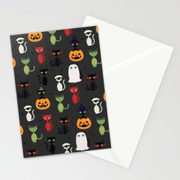 Halloween Cats Stationery Cards