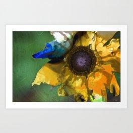 Modern Flower Art - Untamed Beauty - Sharon Cummings Art Print