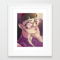 kate bishop Framed Art Prints featuring Kate Bishop  by S8ANS