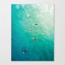 Five Surfers v2 Canvas Print