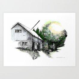 My grandparents cowshed Art Print