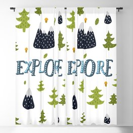 explore montains and trees Blackout Curtain