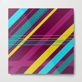 Full of cheer and colors stripes Metal Print