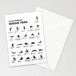 The 26 Poses Of Bikram Yoga Stationery Cards