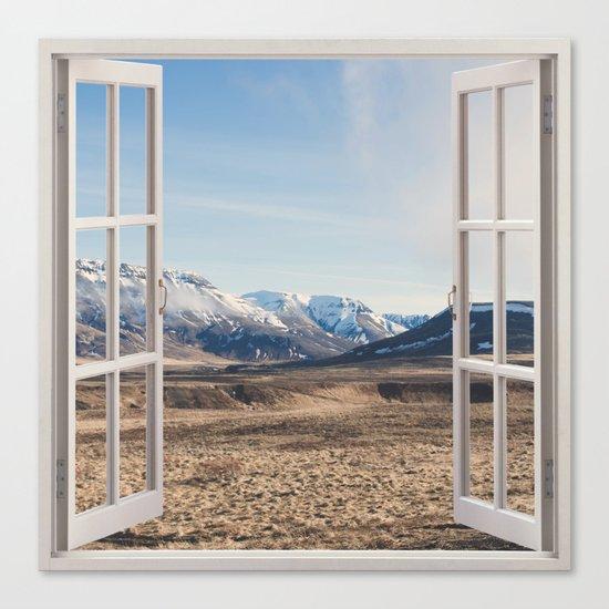 Hills through the window Canvas Print