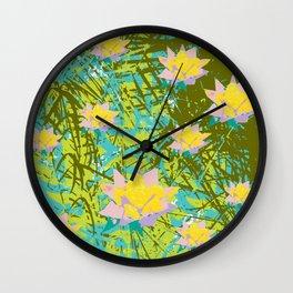 tropical reflections Wall Clock