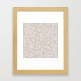 Marble With Zig Zag Framed Art Print