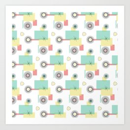Atomic Retro Geo Art Print