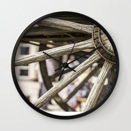 Calgary Stampede Chuck Wagon Wheel with Cobwebs Wall Clock