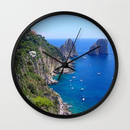 Isle of Capri Coastline Wall Clock