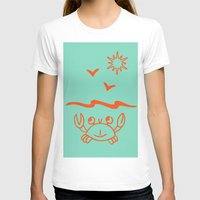 crab T-shirts featuring crab by gzm_guvenc