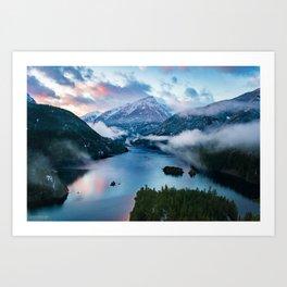 Colors of the Cascades Art Print