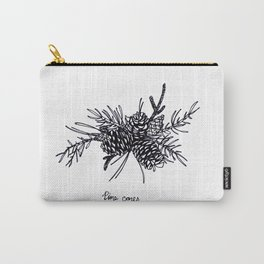 Pine Cones BW Carry-All Pouch