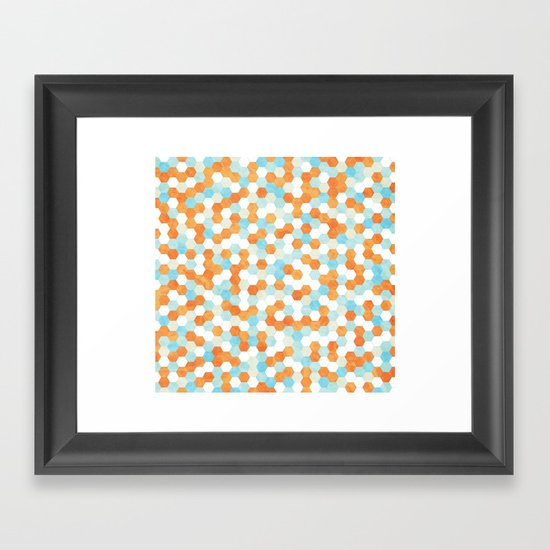 Honeycomb | Fish Bowl Framed Art Print