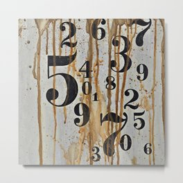 Numeric Values: Crude Figures Metal Print