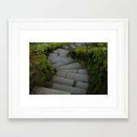 portlandia Framed Art Prints featuring Portlandia Stairs by Dawn Silva