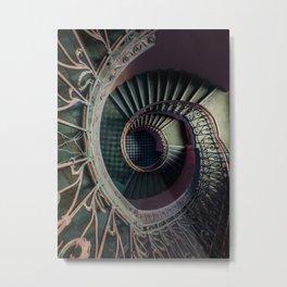 Art Deco spiral staircse Metal Print