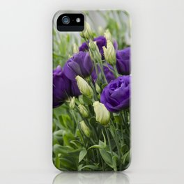 Blue Lisianthus iPhone Case