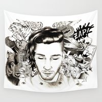zayn Wall Tapestries featuring tattoospire - Zayn by wreckthisjessy