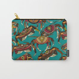 crabs teal Carry-All Pouch