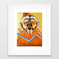 the dude Framed Art Prints featuring DUDE.... by Peterson J Guerrier