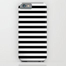 Simple Black & White Stripes iPhone Case