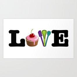 Love Baking Art Print