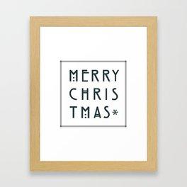 Merry Christmas lettering, Art Noveau style. Framed Art Print