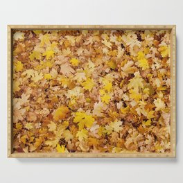 Yellow Autumn Serving Tray