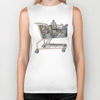 shopping Biker Tanks featuring The Shopping by Mitzi Akaha