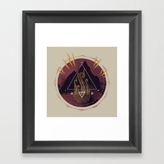 Mountain of Madness (alternate) Framed Art Print