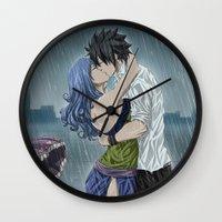 arya Wall Clocks featuring Gruvia - Rain by Arya