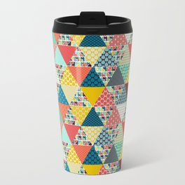 llama geo triangles Metal Travel Mug