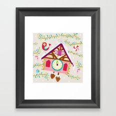 cuckoo for christmas Framed Art Print