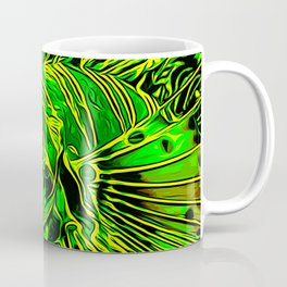 lionfish vector art green Coffee Mug