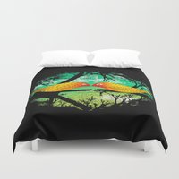 mustache Duvet Covers featuring mustache by sustici