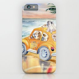 Dogs Family at the beach iPhone Case