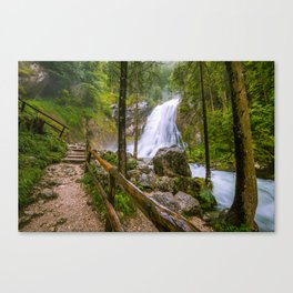 Gollinger Wasserfall Canvas Print