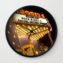 Sidewalk Cinema Wall Clock