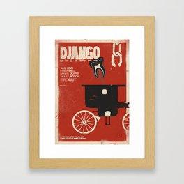 Django Unchained, Quentin Tarantino, alternative movie poster, Leonardo DiCaprio, Jamie Foxx Framed Art Print