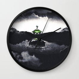 The Landing A Zebes Surrealism Wall Clock