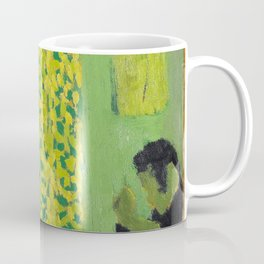 Edouard Vuillard - The Green Interior Or Figure In Front Of A Window With Drawn Curtains Coffee Mug