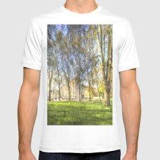 Buckingham Palace Art White Mens Fitted Tee MEDIUM