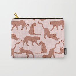 Cheetah on Pink Carry-All Pouch
