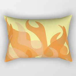 Pastel Flames Rectangular Pillow