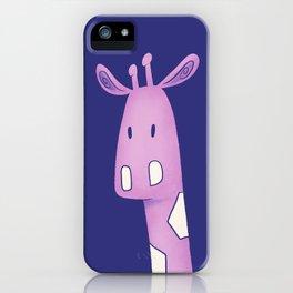 Purple Giraffe Trio iPhone Case